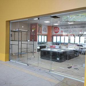 Instalação de Porta Automática de Vidro